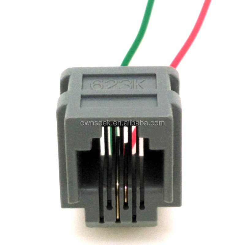 rj11 telephone socket 623k jack 623k wire jack 4p4c. Black Bedroom Furniture Sets. Home Design Ideas