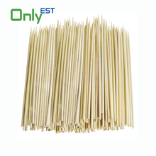Factory price disposable knotted bamboo skewer sticks for food