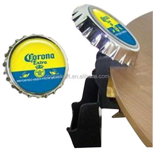 metal table mounted cap shaped bar bottle opener