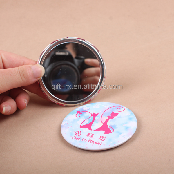 Hot sale personalized promotion gift metal tin hand mirror/ makeup mirror / pocket mirror
