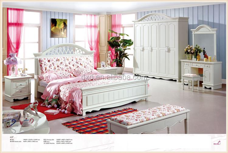 Meisje slaapkamer meubilair prinses eenpersoonsbed voor meisje