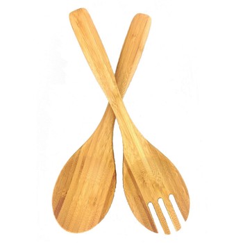 Large Bamboo Salad Spoon Made By 100% Natural Bamboo That Food Safe Oil  Coating Finish - Buy Salad Spoon And Fork,Pancake Turner,Bamboo Spoon  Product