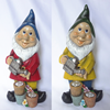 Polyresin Craft Wholesale Manufacturers Funny Mini Small Resin Garden Gnome Door Unpainted Gnome Polyresin Figures