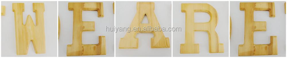 Factory Supply Custom Unfinished Wood Letters Wholesale