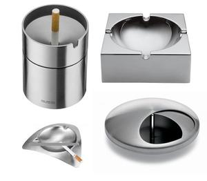 Customized hotel restaurant stainless steel ashtray leisure entertainment household metal ashtray