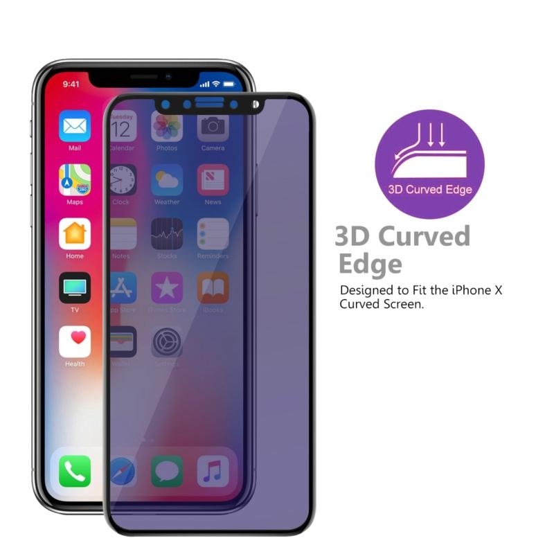VMAX impermeable 2.5D arco borde Anti-Luz Azul de vidrio templado protector de pantalla para iPhone X/XS