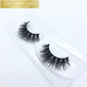 OEM Private Label Synthetic Silk Eyelashes Faux Mink Strip Lashes