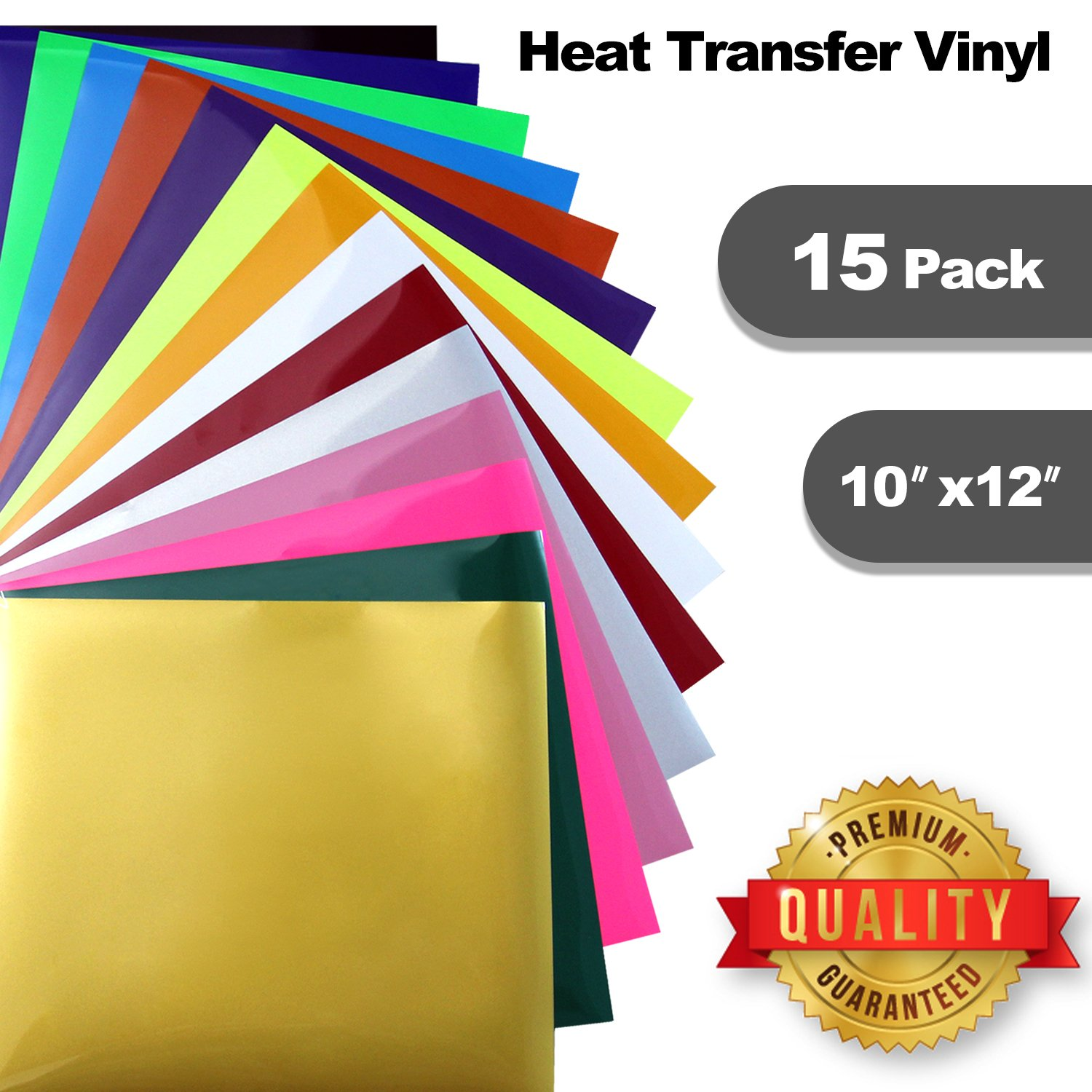 "ARTLFE Heat Transfer Vinyl | 12""x10"" 15 Color 