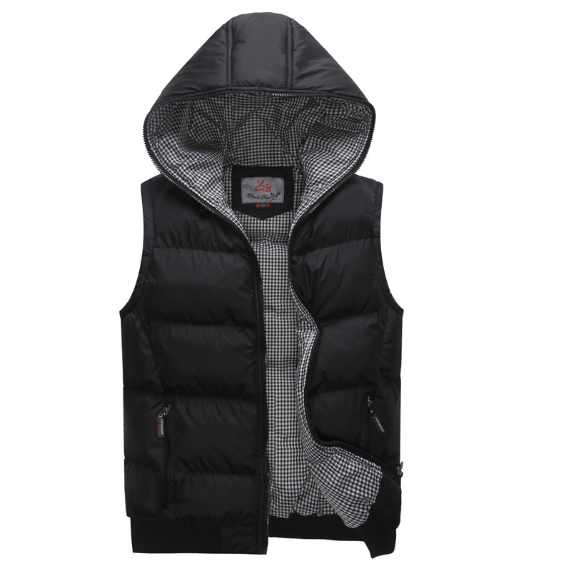 Buy Mens Hooded Vest Waistcoat Fashion Winter Warm Men Casual Zip ...