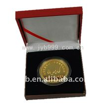 2012 the newest souvenir coins with wooden box(JYB-070)