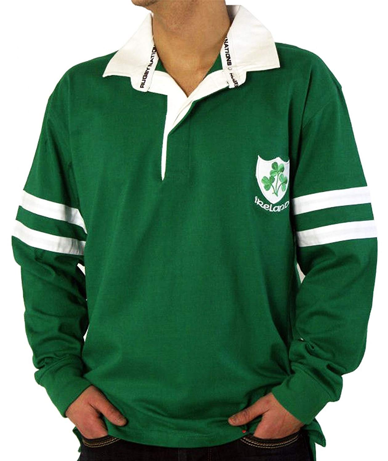 Rugby Shirt Ireland Two Stripe option X Large