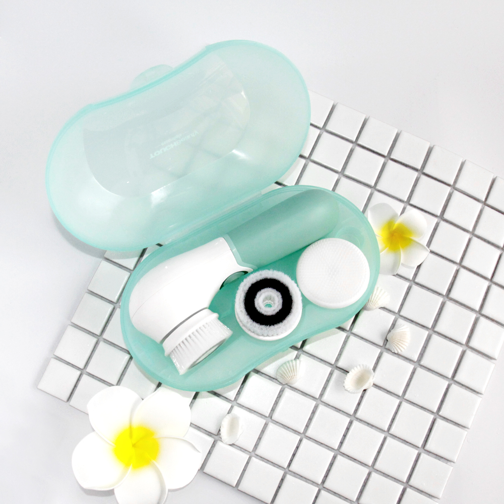 TOUCHBeauty TB-14838 with 3 Replaceable Brush Waterproof PBT Silicone Facial Cleansing Brush