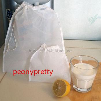 Quality Reusable Nylon Seed Nut Milk Mesh Bag Tea Juice Herb Spouting Raw Food Whole