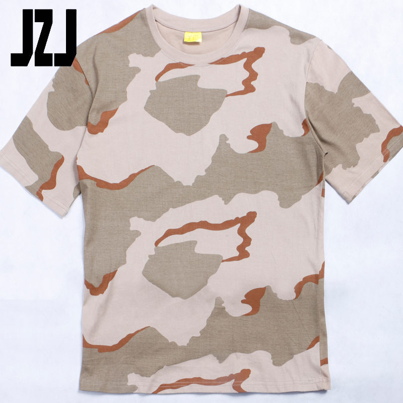 100% cotton Mixed color military camo military camouflage t shirts
