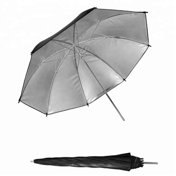 Professional 40 inch Black and Silver Reflector Umbrella for Photo & Video Shooting Studio Flash Light