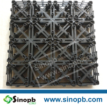 Cheap PP PE Interlock Plastic Mat Supplier Plastic Base Support for WPC tiles Wood Flooring Made in China