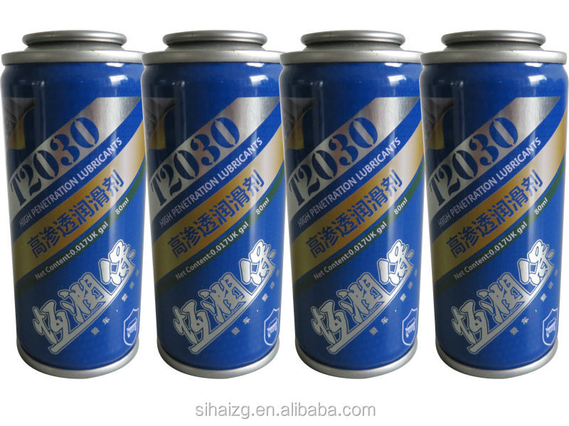 100ml volume spray lubricant can from the can manufacturer