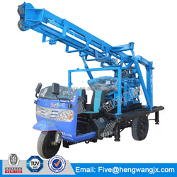 tractor mounted water well drilling rig; car tricycle carrier drilling rig; tricycle drilling machine for sale