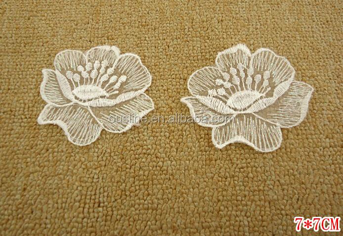 White lace applique bridal applique lace patch bridal dress