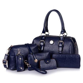 797d407b9e ADS24 Fashion Hot sale Women PU Leather Handbag Shoulder Bags Set ladies handbags  leather Boston women