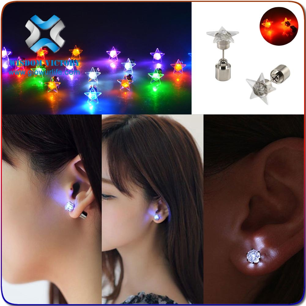 2016 Party wear charming flashing light up LED earrings for all party,led light earrings