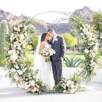 Hit ins Round Wedding Arch Frame Metal Backdrops