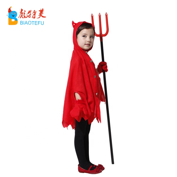 halloween baby ox horn hooded cape cloak with tail