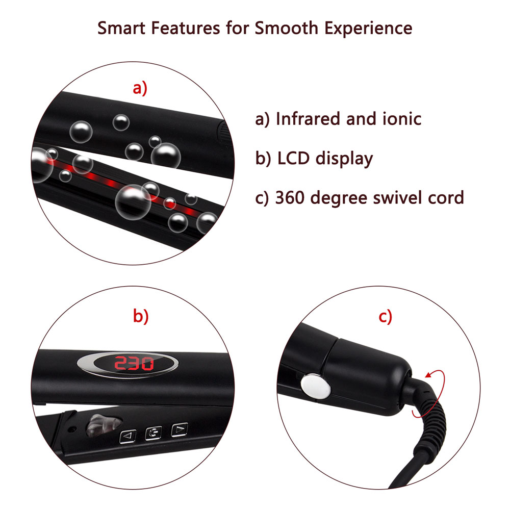 MCH Infrared Ionic Flat Iron Far Infrared hair Straightener