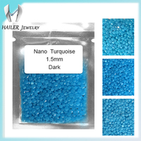 Round synthetic nano turquoise for fashion jewelry