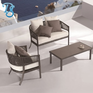 rattan sofa aluminium frame outdoor furniture sofa patio sofa sets with cushion