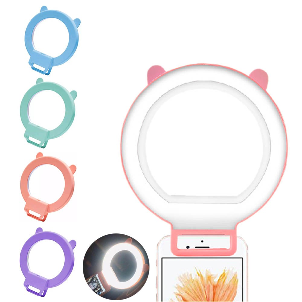 Manufacturer Ring Shaped Led Selfie Fill-in Beauty Led Flash Light Mobile Phone For Samsung iPhone 5s 6S Plus