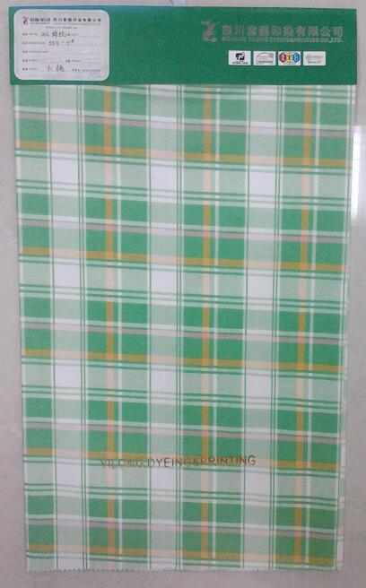 100% cotton plaid fabric resistant to chlorine bleach
