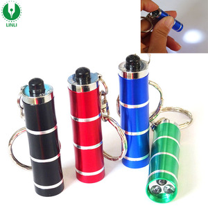 Promotion Metal Custom Logo 3 LED Mini Torch Key Ring