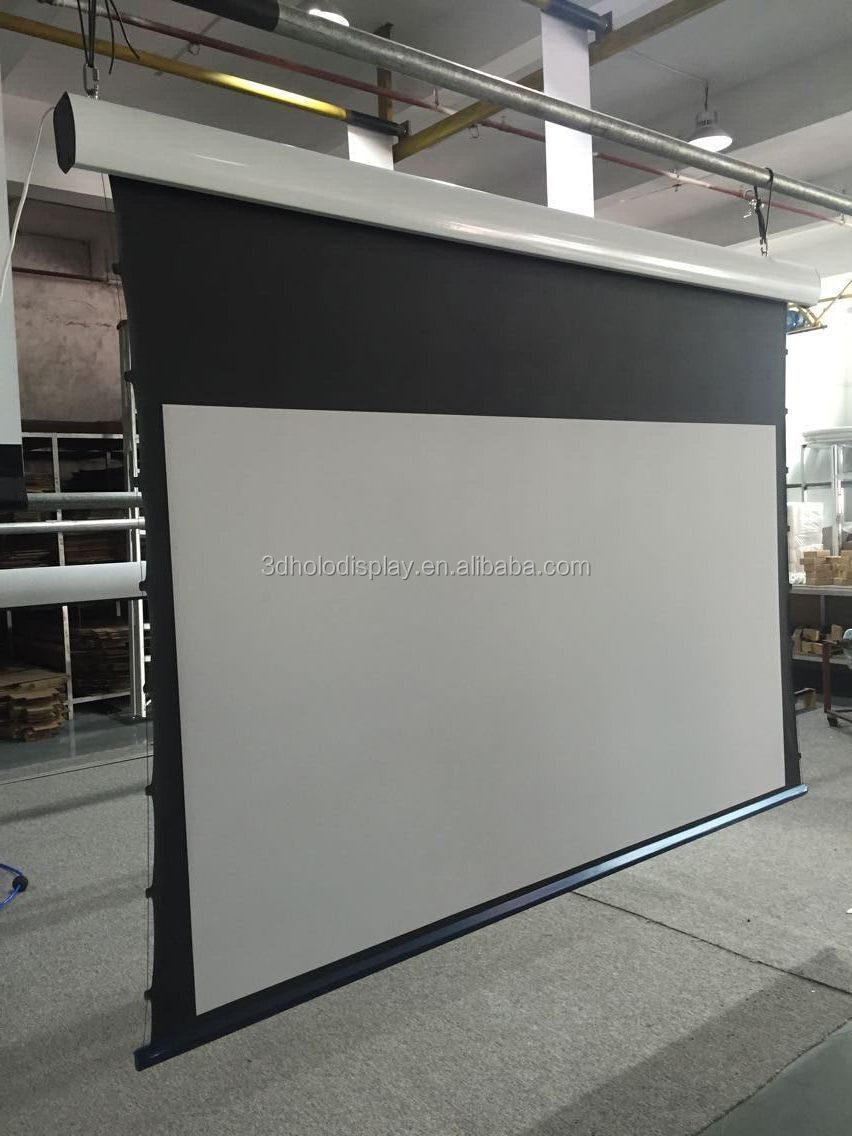 Ceiling Mount Electric Tensioned Projection Screen