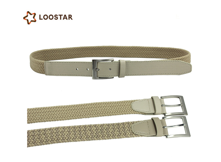 High End Wholesale Famous Mens Elastic Braided Stretch Belt