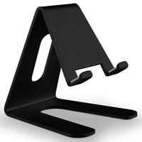 2019 hot sale cellphone easy holder accessories black table stand for phone or tablet hands free stands for iphone