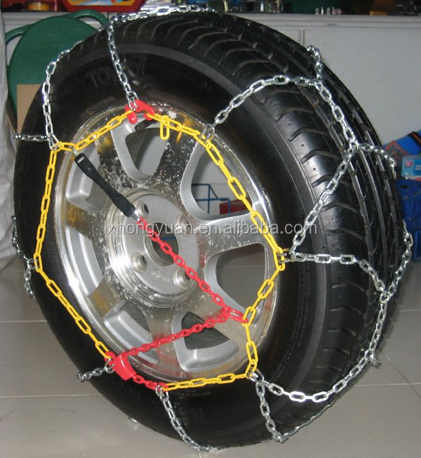 Plastic/Rubber/Stainless Steel Snow /Ice Tire Chain for passengers/Traveller Car