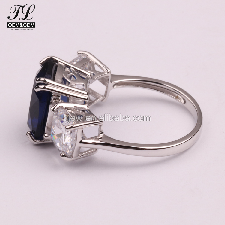 9k 10k 14k 18k gold wedding ring+sapphire solitaire ring