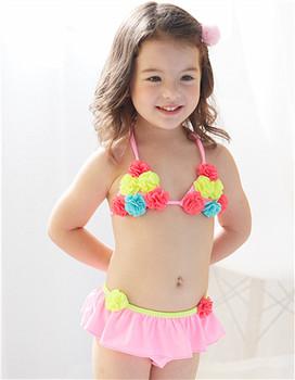 77d719c070 S61803B Top quality cute Kids bikinisuit baby girls swimwear floral swimsuit