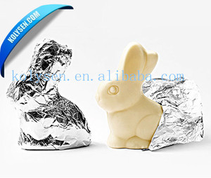 Custom aluminum foil for rabbit shape chocolate wrapper
