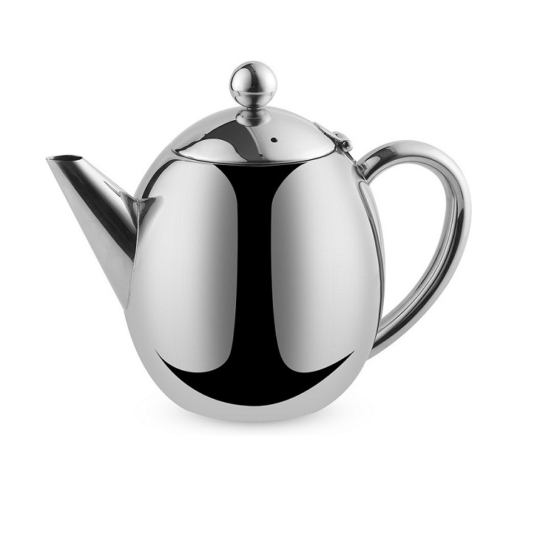 High quality double walled stainless steel teapot