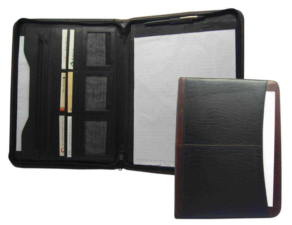 Europa Groothandel customerized rits A4 map business PU leather portfolio