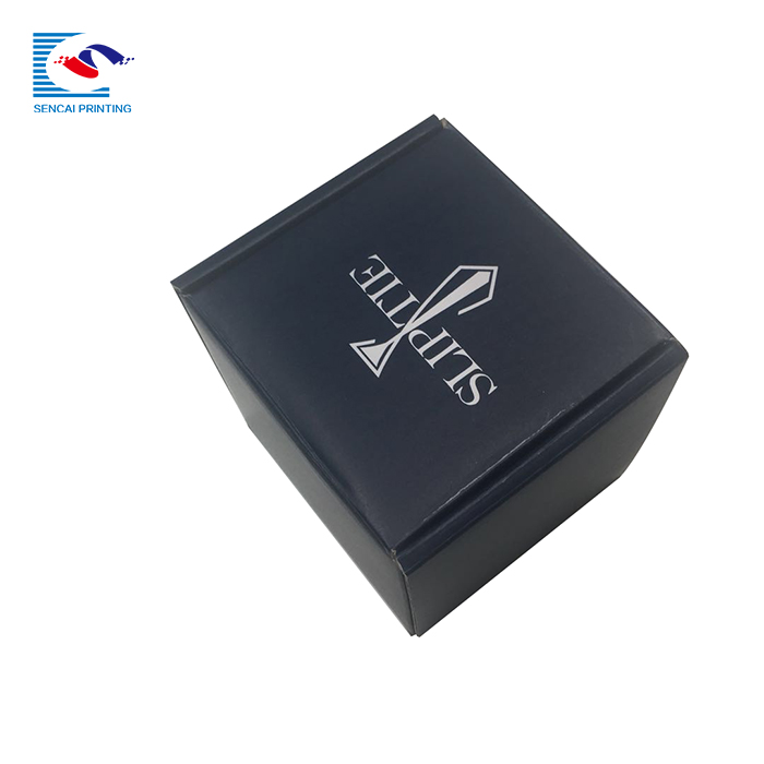SENCAI high quality custom logo black watch gift packaging corrugated paper box