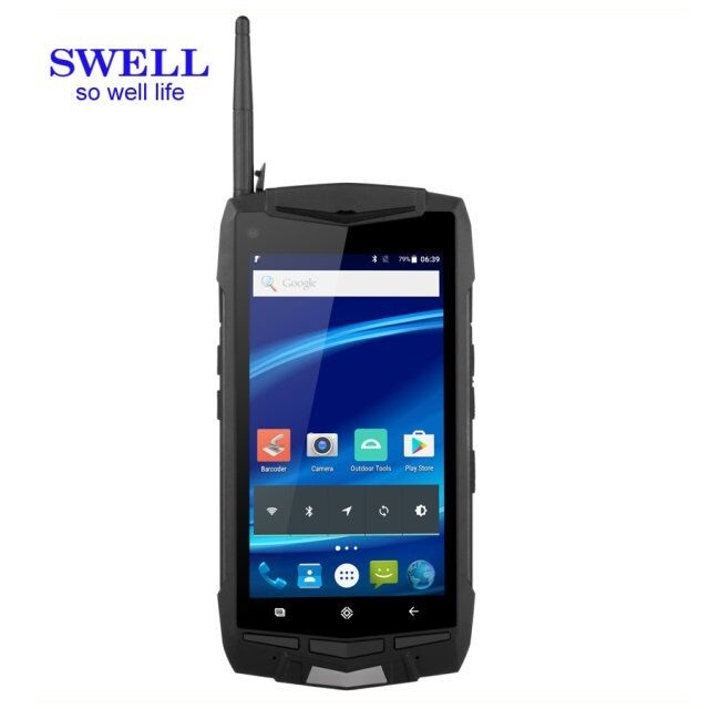 Android 6.0 Quad core 4G handheld rugged fingerprint smartphone with barcode scanner pda window
