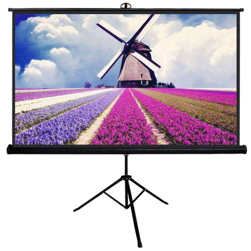 Fabric fog projection screen