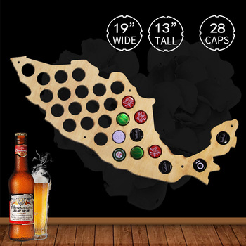 Beer Cap Map Of Mexico Wall Decoration Beer Cap Map Wooden Hanging Craft Display Map Gift