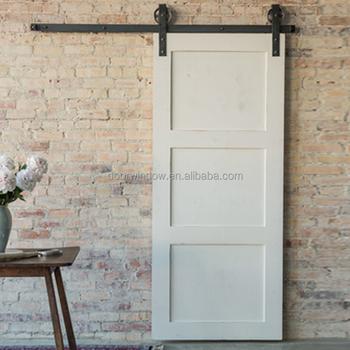 Antique White Large X Brace Bi Parting Barn Door For Living Room