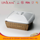 UNICASA Wholesale novelty pottery ceramic casserole dish with lid