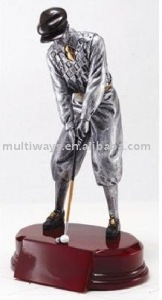 metallic look golf plastic figure(MW-PT448)