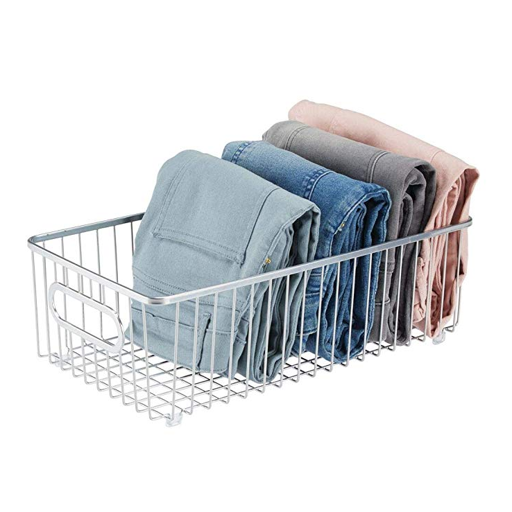Stainless steel hot-selling metal clothing basket drawer box